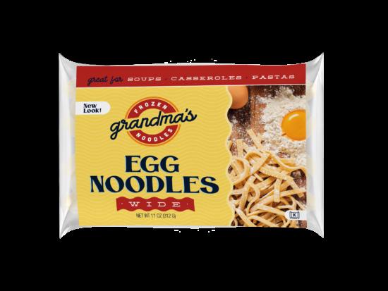 Grandma's Frozen Egg Noodles packaging