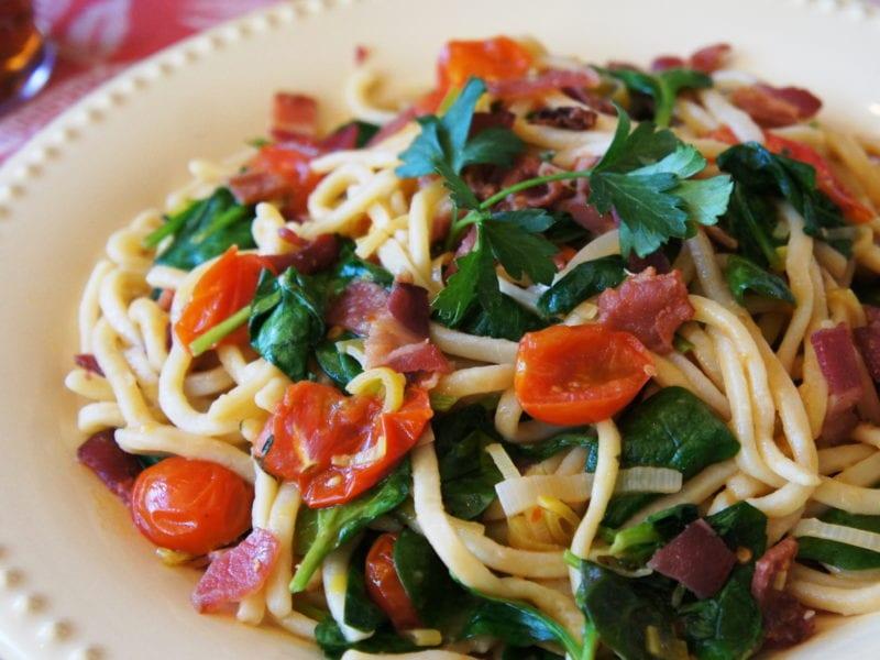taste of summer blt noodles with Grandma's Frozen Pasta