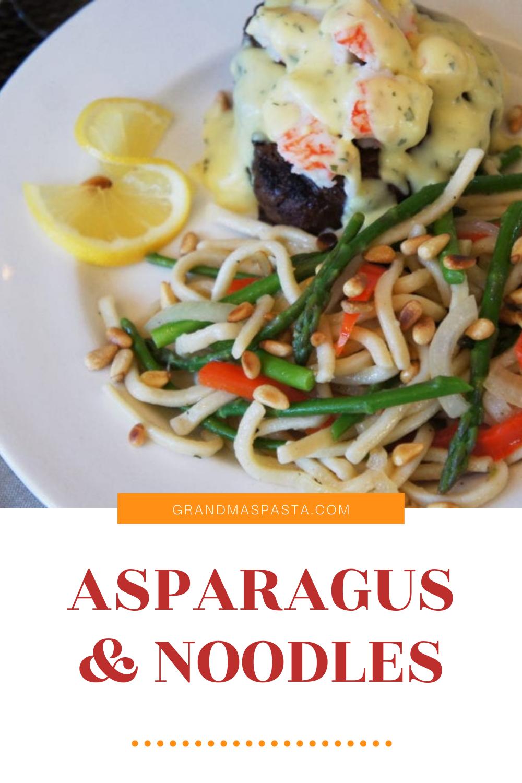 Asparagus & Noodles dish