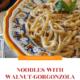 Noodles with Walnut-Gorgonzola Sauce